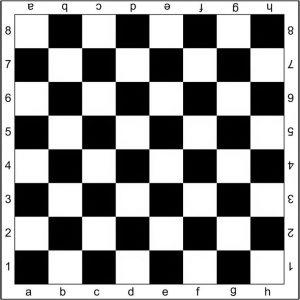 Contoh papan catur.